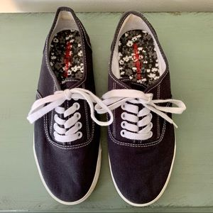 Mossimo Navy Lace Up Classic Canvas Sneaker